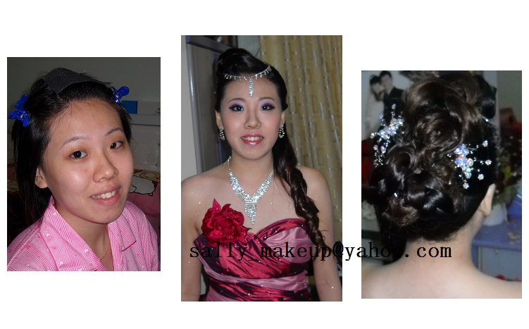 bridal dinner makeup+hairdo