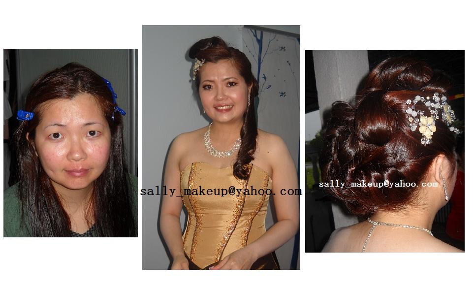 Bridal dinner makeup+hairdo